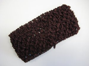 CROCHET HEADBAND *BROWN* Stretchy Thick