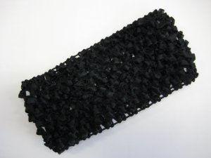 CROCHET HEADBAND *BLACK* Stretchy Thick