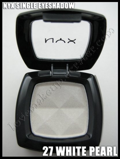 Mac Single Eyeshadow Collection: NYX Single EYESHADOW * 27 WHITE PEARL * [POSSIBLE MAC DUPE