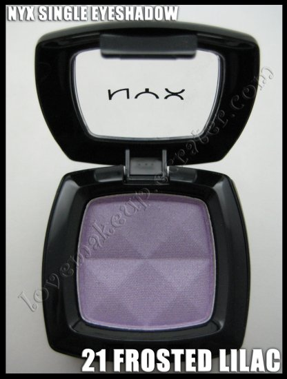 NYX Single EYESHADOW *21 FROSTED LILAC* [POSSIBLE MAC DUPE: BEAUTIFUL IRIS]