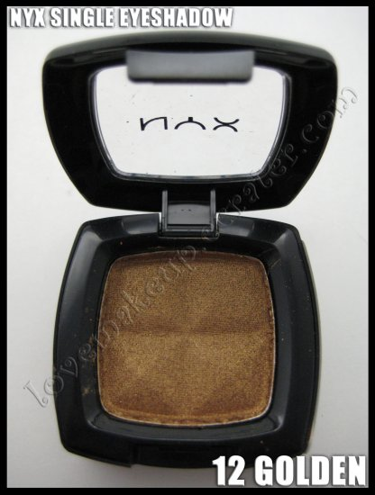 Mac Single Eyeshadow Collection: NYX Single EYESHADOW *12 GOLDEN* [Possible MAC DUPE: GOLDEN]