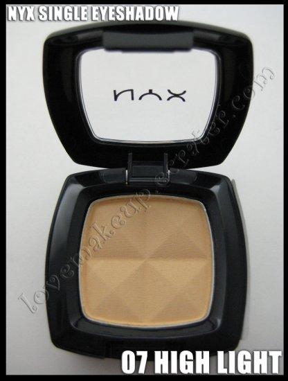NYX Single EYESHADOW *07 HIGH LIGHT* [POSSIBLE MAC DUPE: ROSE BLANC]