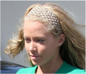CROCHET HEADBAND *BEIGE* Stretchy Thick [AS SEEN ON Kendra Wilkinson]