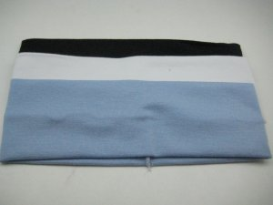 Celebrity Favorite COTTON HEADBAND 3-PACK *LIGHT BLUE-WHITE-BLACK* [AS SEEN ON GWEN AND CAMERON]