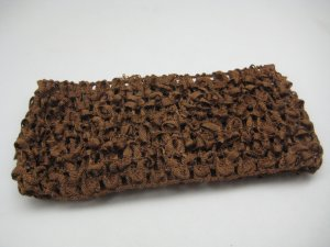 *NEW* CROCHET HEADBAND *MEDIUM BROWN* Stretchy Thick