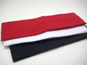 Celebrity Favorite COTTON HEADBAND 3-PACK *AMERICA* RED - WHITE - NAVY BLUE [AS SEEN ON GWEN]