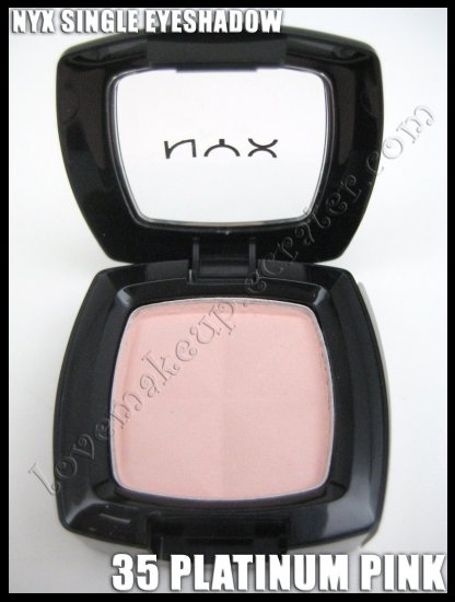 NYX Single EYESHADOW *35 PLATINUM PINK* [NOTE: RECOLORED SHADE]