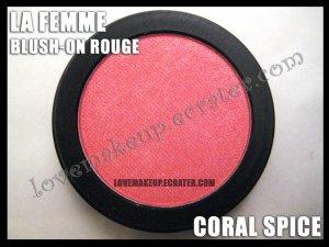 LA FEMME Blush-On Rouge - Coral Spice