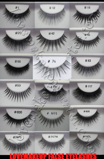 FALSE EYELASHES - LOT OF 18 *VARIETY OF STYLES* [Comparable to MAC]