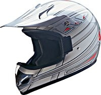 OFF ROAD HELMET A60607 SILVER KNIGHT - S