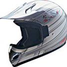 OFF ROAD HELMET A60607 SILVER KNIGHT - L