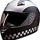 FULL FACE HELMET 75761  SILVER CHECKERBOARD - XS