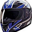 FULL FACE HELMET 75756 BLUE BLADE  -  XS
