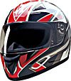 FULL FACE HELMET 75757 RED BLADE  -  XL