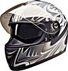 FULL FACE HELMET PC77774 MATT SILVER SHARK  -   L