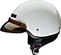HALF HELMET 40410 WHITE   -     XL