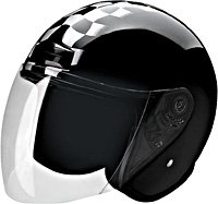 OPEN FACE HELMET 20220 SILVER RACE DAY  -   S