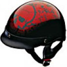 HALF HELMET 100125 WINE BONEYARD   -   XL
