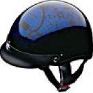 HALF HELMET 100123 BLUE BONEYARD   -   S