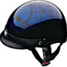 HALF HELMET 100123 BLUE BONEYARD   -   L