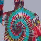 Multi-Colored Spiral Hoodie Tie Dye Adult Size Large