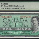 "1954 $2 ""replacement"" *A/A BANK OF CANADA PMG65  gem"