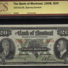 1938 $20 BANK OF MONTREAL BCS VF 25