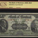 1923 $10 BANK OF MONTREAL BCS 20