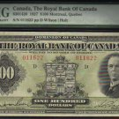 1927 $100 THE ROYAL BANK OF CANADA   PMG VF 30