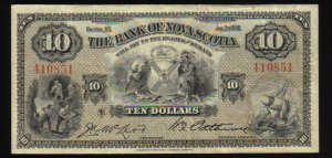 1935 $10  bank of Nova Scotia -BANKNOTES CANADA