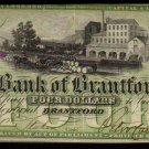 ONTARIO-Bank of Brantford $4 Nov. 1, 1859 Ch. 40-10-04-06  -BANKNOTES CANADA