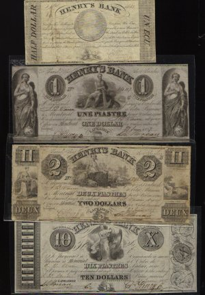 Canada, Henry's Bank,INCLUDING  10 PIASTRES  4 NOTES: June 27, 1837