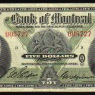 1942 $5 SCARCE BANK OF MONTREAL  five dollars