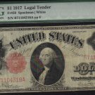 """USA $1917 $1   legal tender  PMG vg10  """