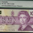 1988  $1000 BANK OF CANADA   scarce papermoney  WOW PMG35
