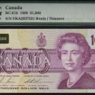 1988  $1000 BANK OF CANADA   scarce papermoney  WOW PMG 53
