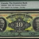 1938 THE DOMINION BANK  $10 PMG VF25 very very NICE