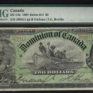 1897 $2 DOMINION OF CANADA  DC-14c BANKNOTE PMG 15