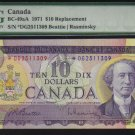 1971 $10  replacement  *D/G  BANK OF CANADA  PMG 65 unc