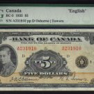 1935  $5   BANK OF CANADA   BC-5    PMG 30