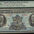 $20 1927 THE ROYAL BANK OF CANADA  banknote PMG 25
