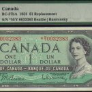 ASTERISK *M/Y $1BANK OF CANADA 1954 BC-37bA  PMG 65 EPQ