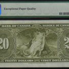 1937 $20 H/E BANK OF CANADA BC-25c PMG 58 EPQ changeover RaDaR