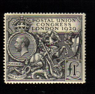 1929 £1 PUC George V stamp GIBBONS #438 SCOTT #209