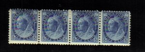 1899 5 cents 4 STAMPS queen victoria MNH / mh canada RARE