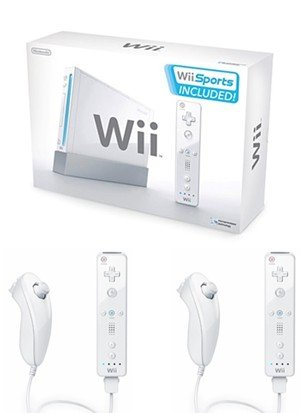 Nintendo Wii Friends Bundle - With 5 Great Sports Games and 4 Controllers-Free Shipping