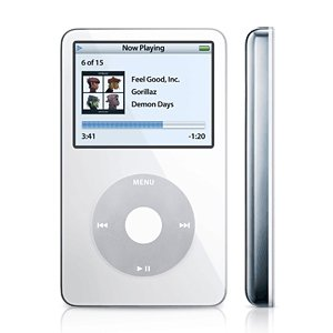 Apple MA444LL/A 30 GB iPod Video AAC/MP3 Player White (5.5 Generation)