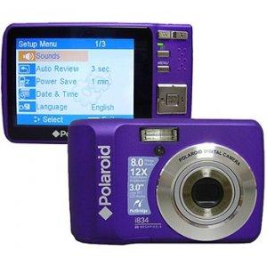 Polaroid i834 Purple 8.0 Megapixel Digital Camera-Free Shipping!!!