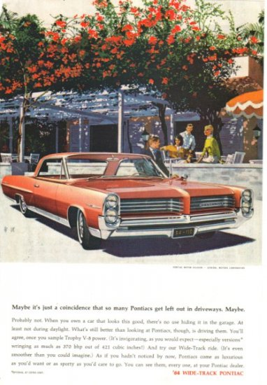 1964 Pontiac Bonneville vintage color magazine sales ad