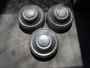 71 72 73 74 75 76 77 78 79 Dodge Van pickup 3/4 ton 1 ton dog dish hub caps (3)